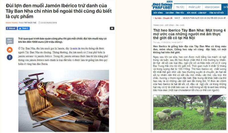 Hình Ảnh Báo Đời Sống &Amp; Pháp Luật Với Tri Thức Trẻ Viết Về Thịt Heo Tây Ban Nha