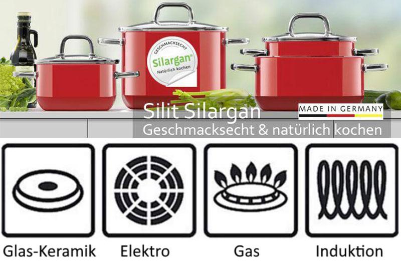 Bộ Nồi Silit 21.0929.7093 Passion Red Topf-Set, 4 Món Cao Cấp, Hình Ảnh 1
