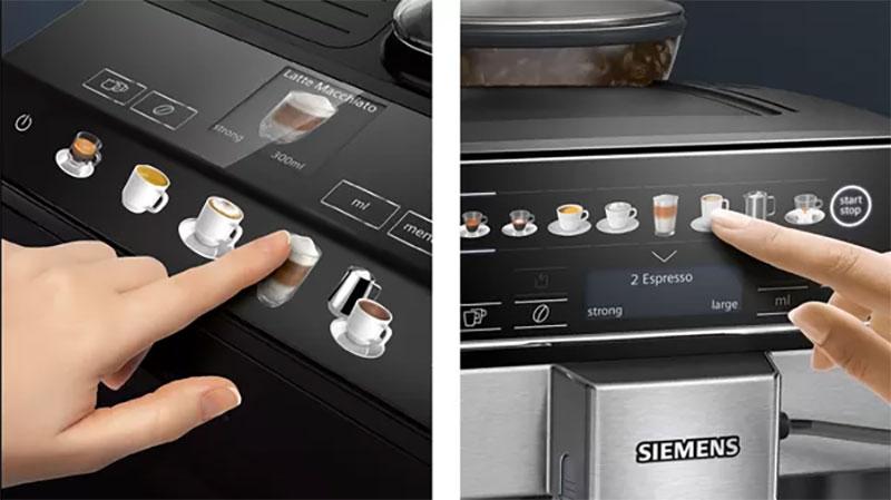 Máy Pha Cà Phê Siemens Eq500 Tq503D01 - Từng Loại Cà Phê Được Hiển Thị Rõ Ràng Với Bảng Điều Khiển Điện Tử - Coffeeselect Display