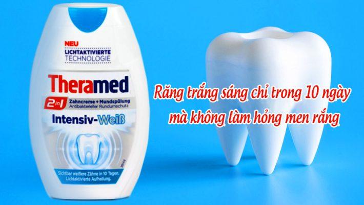 Kem Đánh Răng Theramed 2In1 Intensive Weib 75Ml Răng Trắng Sáng Chỉ Trong 10 Ngày Mà Không Làm Hỏng Men Răng