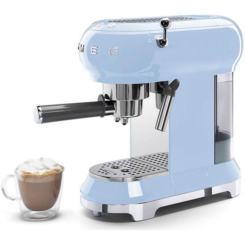 Máy Pha Cà Phê Smeg Ecf01Pbeu Pastel Blue Pha Được Nhiều Loại Cafe