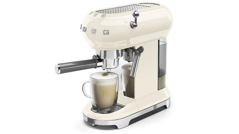 Máy Pha Cà Phê Espresso Smeg Ecf01Creu Cream, Hình Ảnh 10