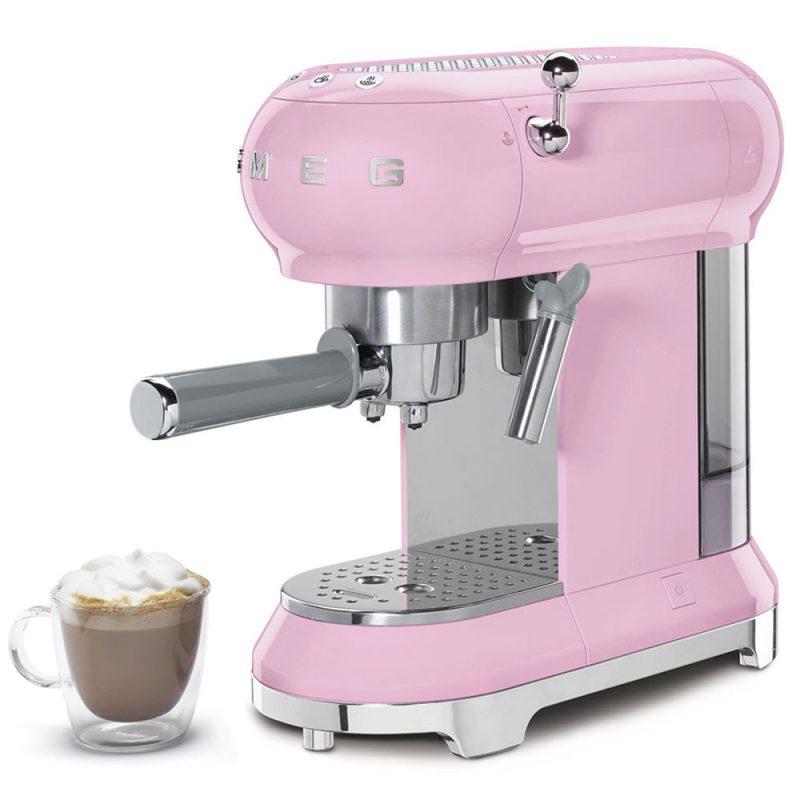 Máy Pha Cà Phê Espresso Smeg Ecf01Pkeu Pink - Truyền Thống Italy