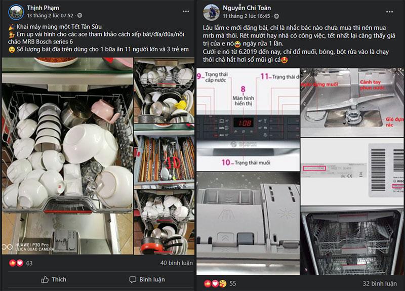 Người Dùng Thịnh Phạm, Nguyễn Chí ToànKhoe Về Việc Máy Rửa Bát Giải Quyết Công Việc Vất Vả Mỗi Dịp Tết Về Của Các Gia Đình Việt