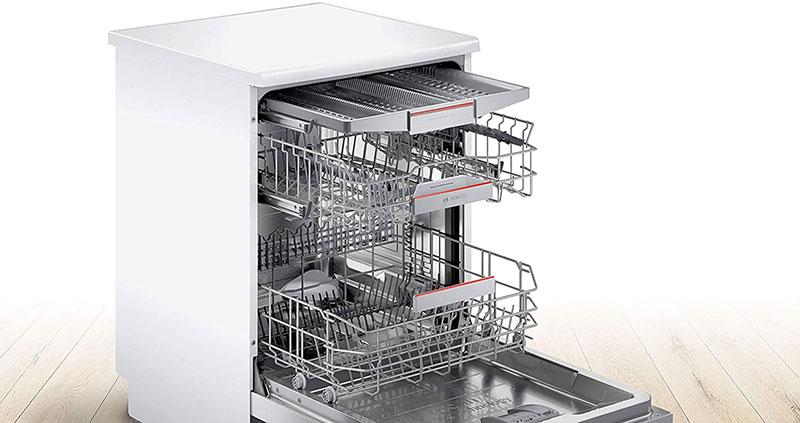 Máy Rửa Chén Bát Bosch Sms6Zcw00E Series 6 Với Rackmatic Giỏ Trên Có Thể Điều Chỉnh Độ Cao