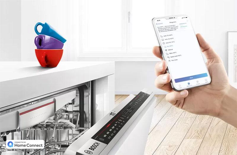 Máy Rửa Chén Bát Bosch Sms6Zci49E Biết Lắng Nghe Bạn Với Tính Năng Home Connect