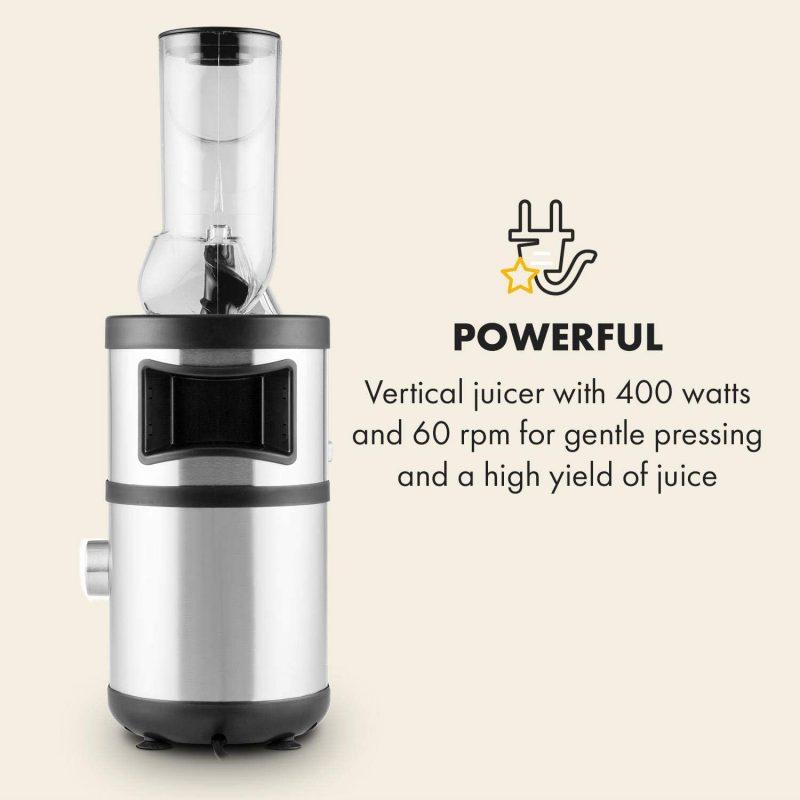 Máy Ép Chậm Klarstein Fruitberry Slow Juicer 400W 5