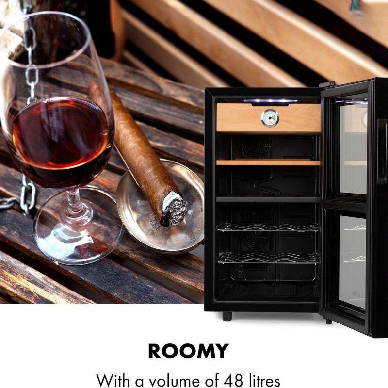 Đặc Điểm Nổi Bật Tủ Hỗn Hợp Cigar Rượu Vang Klarstein El Dorado Humidor, Wine Fridge