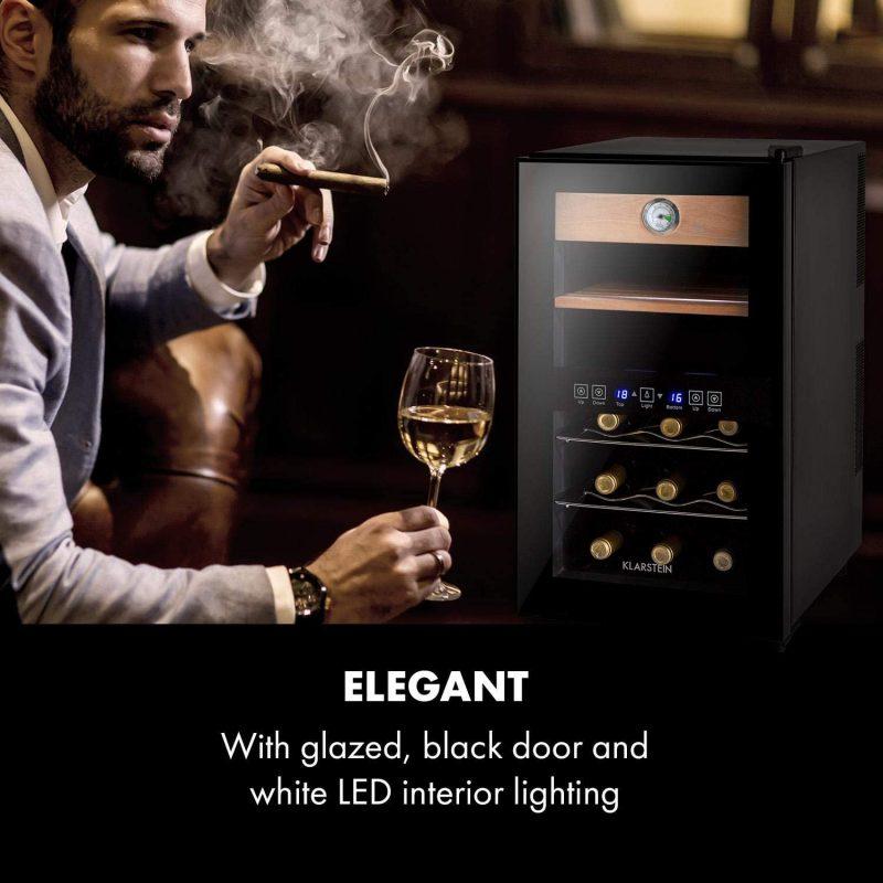 Tủ Hỗn Hợp Cigar Rượu Vang Klarstein El Dorado Humidor &Amp; Wine Fridge- Ảnh 1