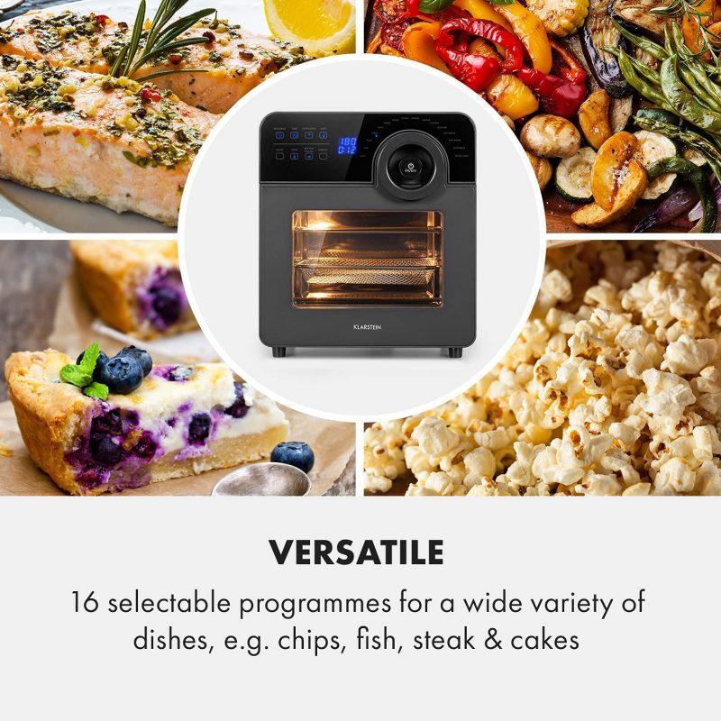 Nồi Chiên Không Dầu Klarstein 14L Aerovital Cube Chef Hot Air Fryer 9 Với 16 Chương Trình Để Bạn Lựa Chọn