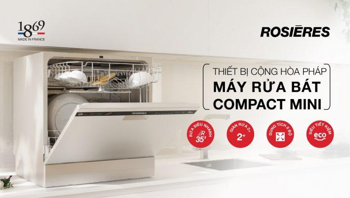 Máy Rửa Chén Bát Rosieres Rdcp8S-04 Compacrt Mini 8 Bộ 3