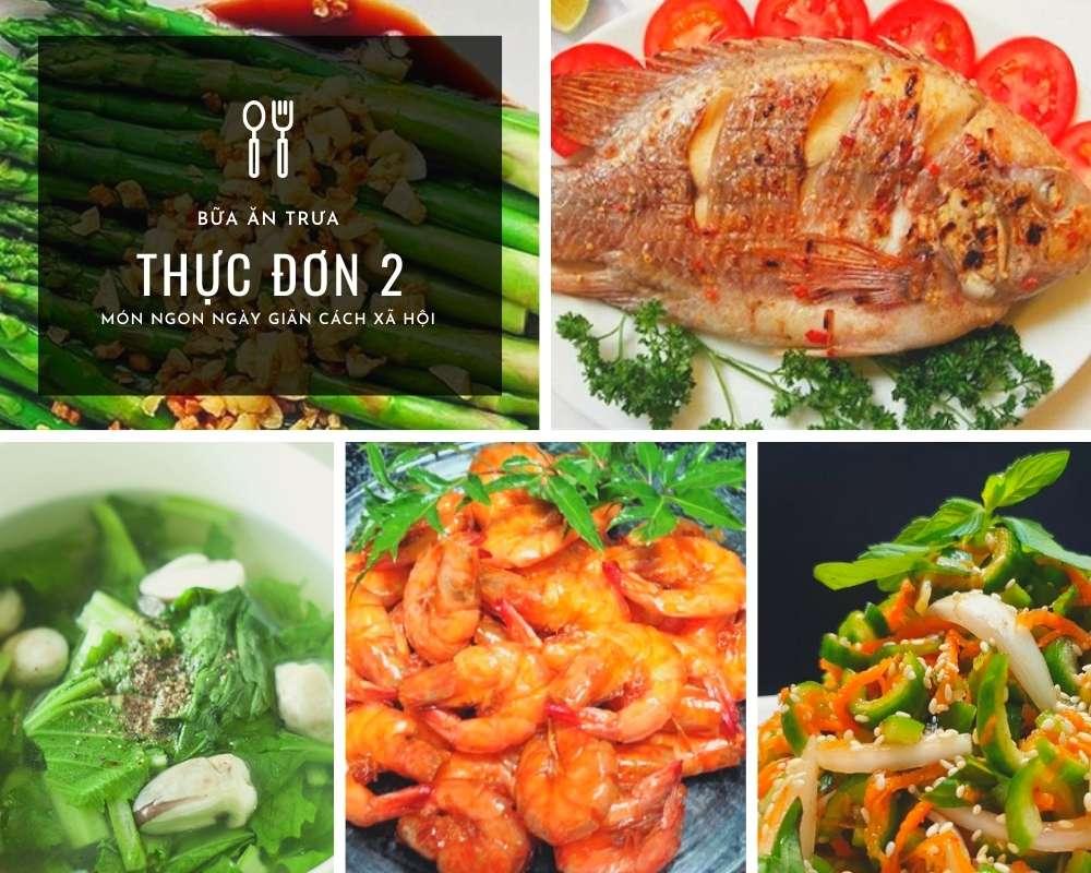 Thực Đơn Bữa Trưa Số 2 - Các Món Ăn Ngon, Đầy Đủ Dưỡng Chất