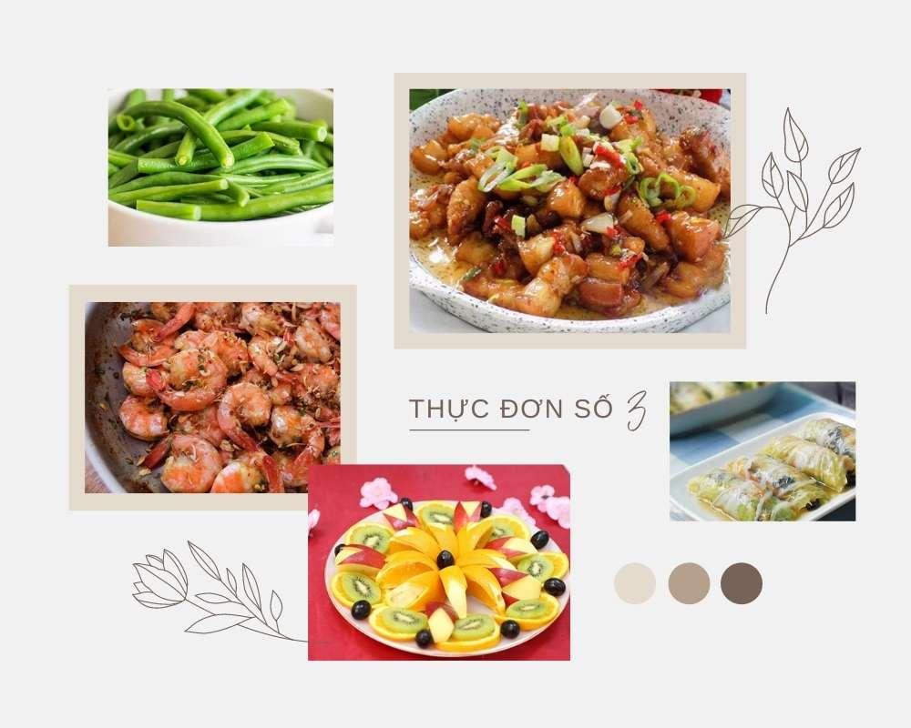 Thực Đơn Bữa Trưa Số 3 - Các Món Ăn Ngon, Đầy Đủ Dưỡng Chất