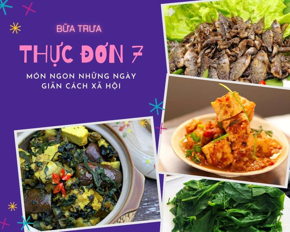 Thực Đơn Bữa Trưa Số 7 - Các Món Ăn Ngon, Đầy Đủ Dưỡng Chất
