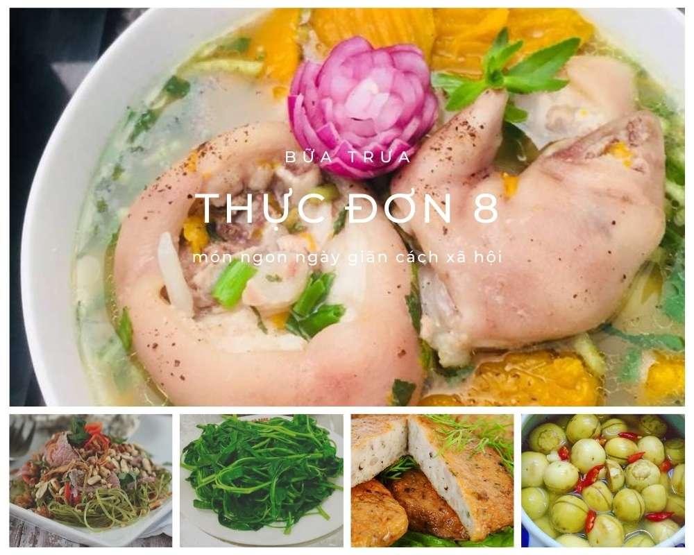 Thực Đơn Bữa Trưa Số 8 - Các Món Ăn Ngon, Đầy Đủ Dưỡng Chất