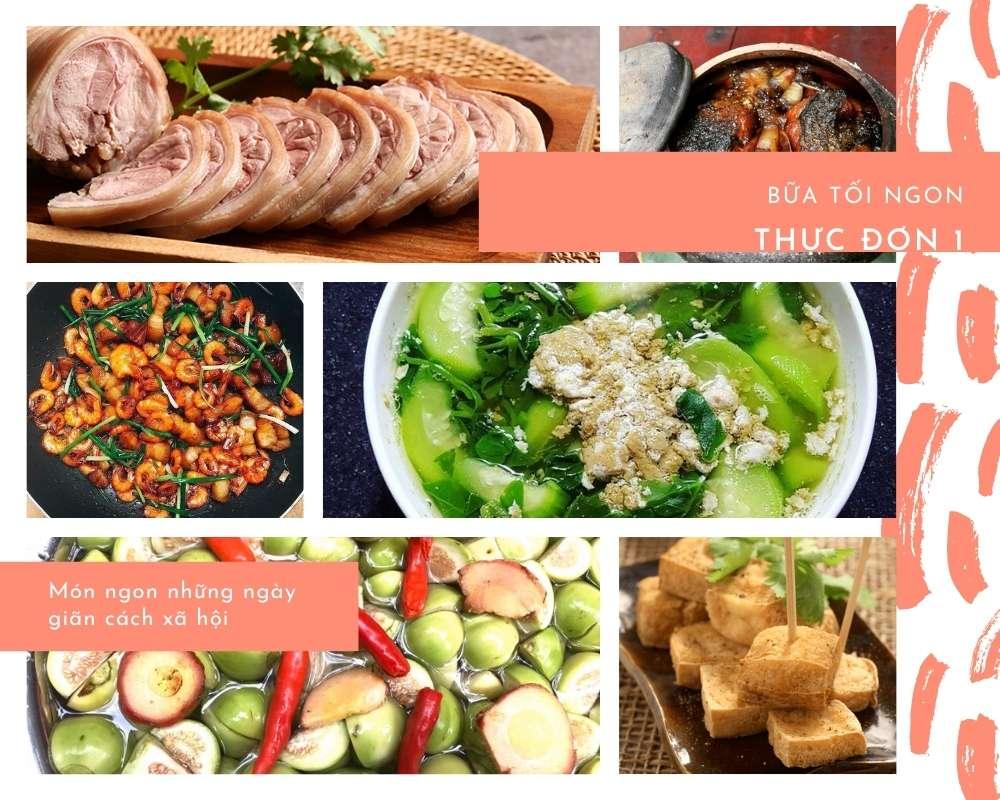 Các Món Ăn Ngon - Thực Đơn Bữa Tối Số 1 - Đầy Đủ Dưỡng Chất