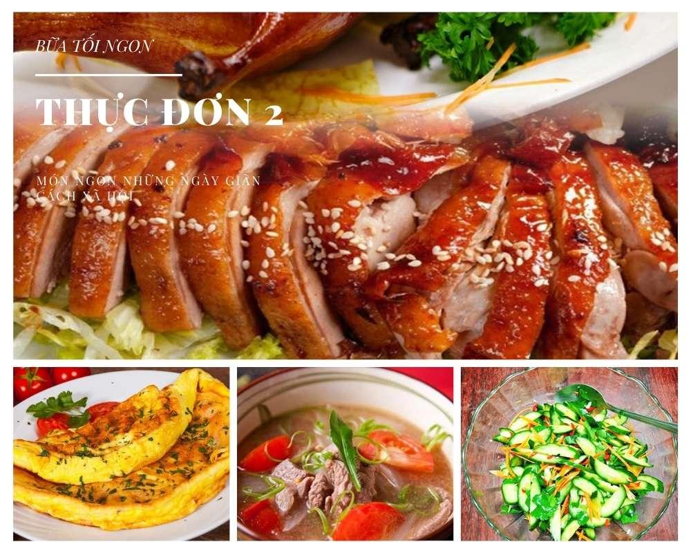 Các Món Ăn Ngon, Đủ Chất Dinh Dưỡng Cho Cả Gia Đình - Thực Đơn Bữa Tối Số 2