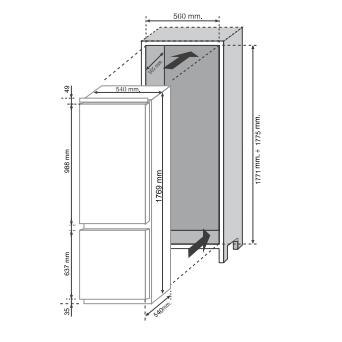 Tủ Lạnh Rosieres Rbbf178T Âm Tủ 250L 8