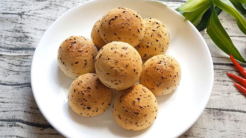 Cách Làm Bánh Mì Mè Đen Hàn Quốc Bằng Nồi Chiên Không Dầu