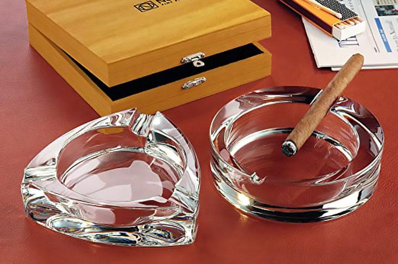 Gạt Tàn Tròn Pha Lê Nachtmann 52814 Cigar Ashtray Round 16Cm, Hình Ảnh 1
