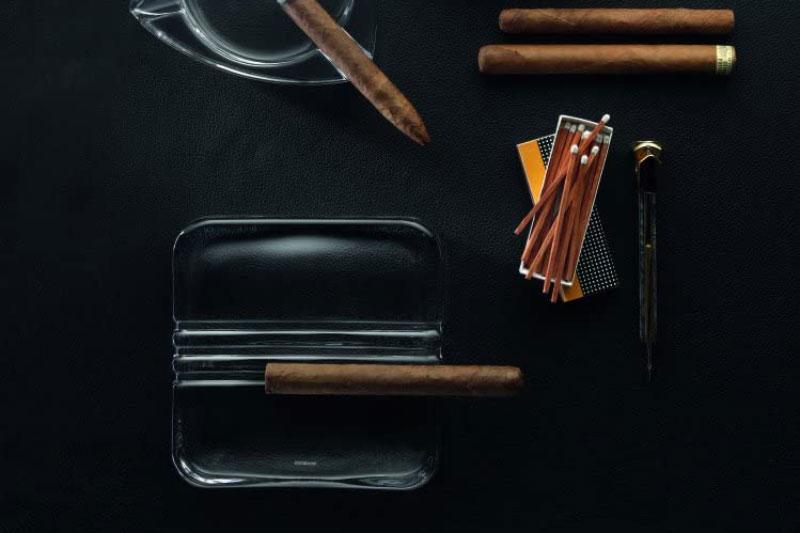 Gạt Tàn Vuông Pha Lê Nachtmann 99372 Cigar Ashtray Cuba 17Cm - Hình Ảnh 2