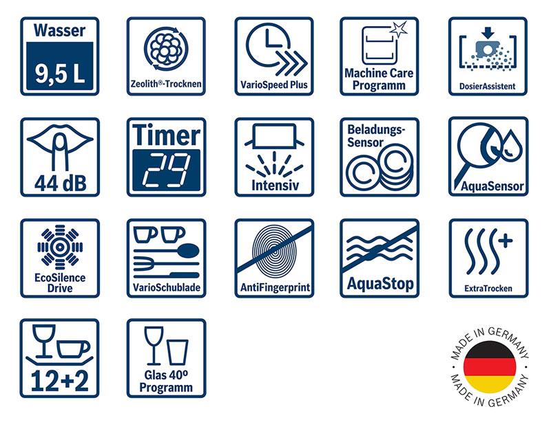Máy Rửa Chén Bát Bosch Sms68Mi04E Độc Lập Serie 6 - Hình 7