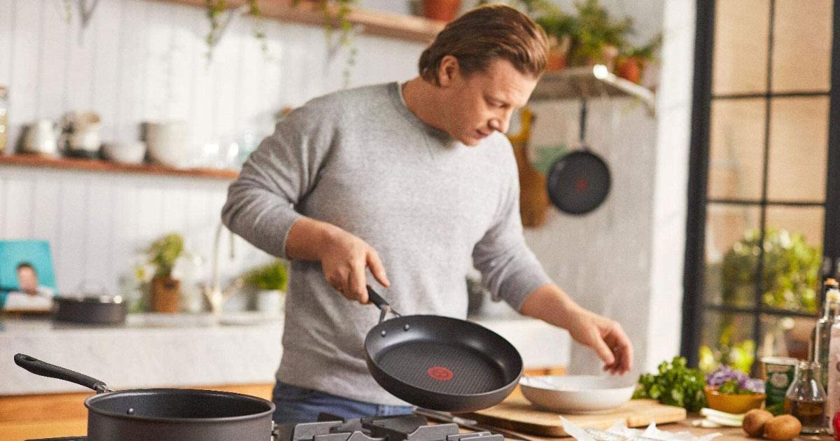 Chảo Tefal Jamie Oliver Hard Anodised Frying Pan 28Cm, Hình Ảnh 1