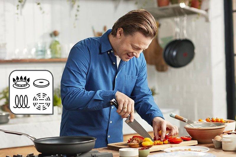 Chảo Tefal Jamie Oliver Hard Anodised Frying Pan 28Cm, Hình Ảnh 2