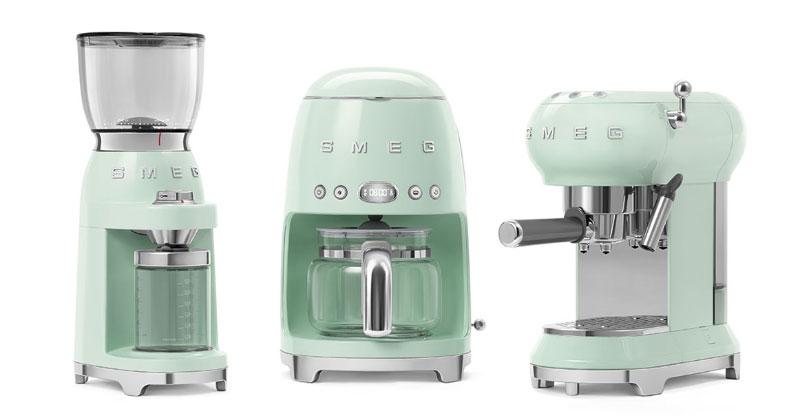 Máy Pha Cà Phê Espresso Smeg Ecf01Pgeu Pastel Green Mint, Hình Ảnh 1