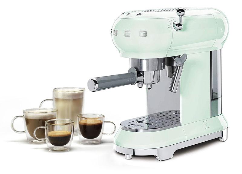 Máy Pha Cà Phê Espresso Smeg Ecf01Pgeu Pastel Green Mint Hiệu Quả Cao