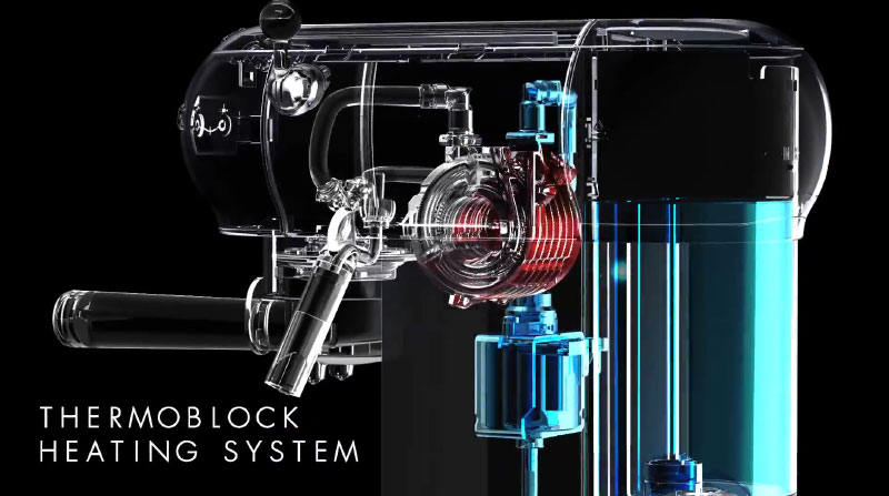 Máy Pha Cà Phê Espresso Smeg Ecf01 Với Thermoblock Heating System