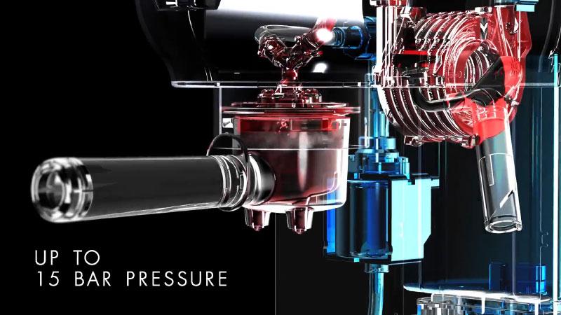 Máy Pha Cà Phê Espresso Smeg Ecf01 Có Áp Suất Lên Đến 15 Bar
