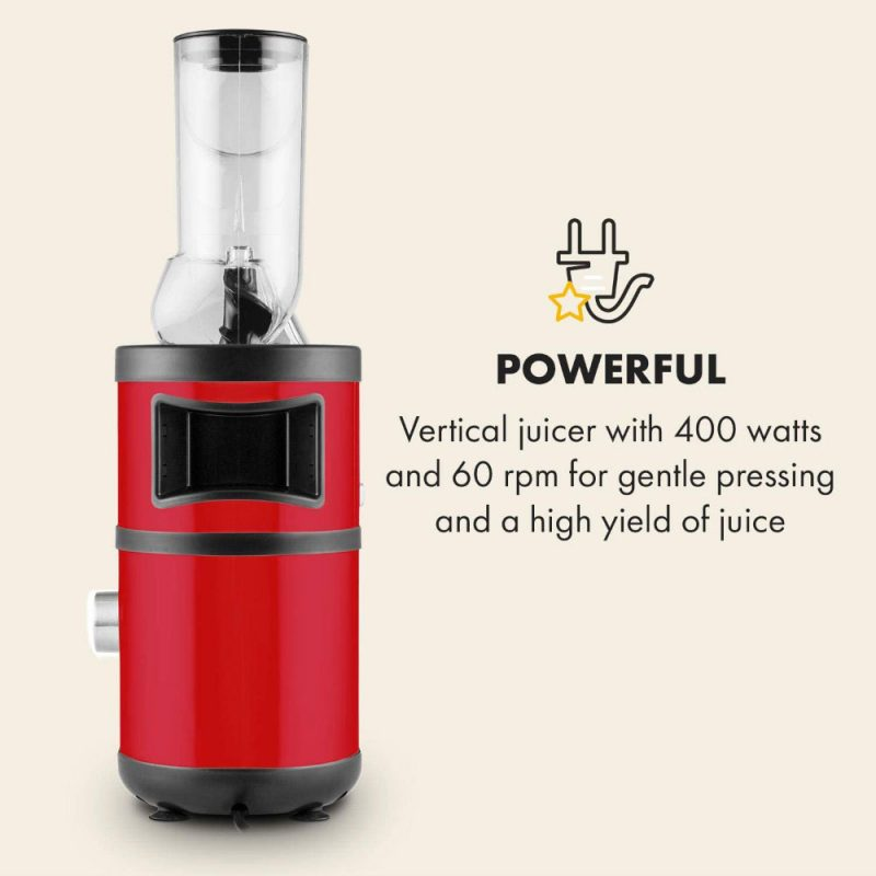 Máy Ép Trái Cây Chậm Klarstein Fruitberry Slow Juicer 400W, Red, Hình Ảnh 11