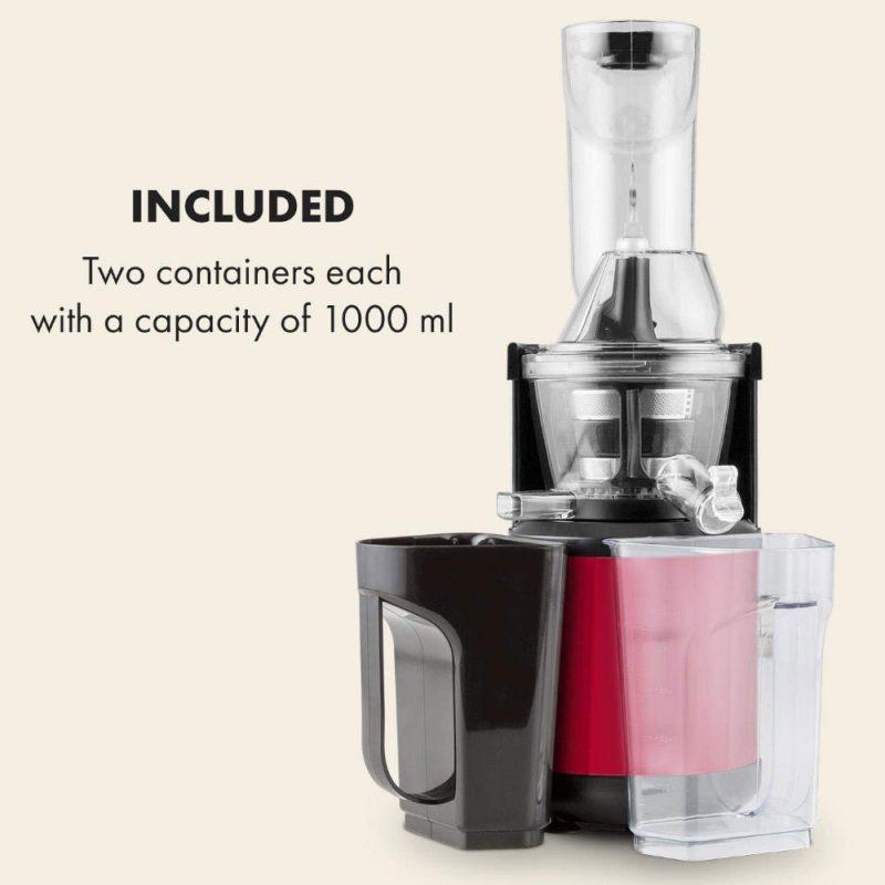 Máy Ép Trái Cây Chậm Klarstein Fruitberry Slow Juicer 400W, Red, Hình Ảnh 4