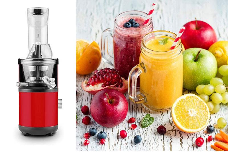 Máy Ép Trái Cây Chậm Klarstein Fruitberry Slow Juicer 400W, Red, Hình 7
