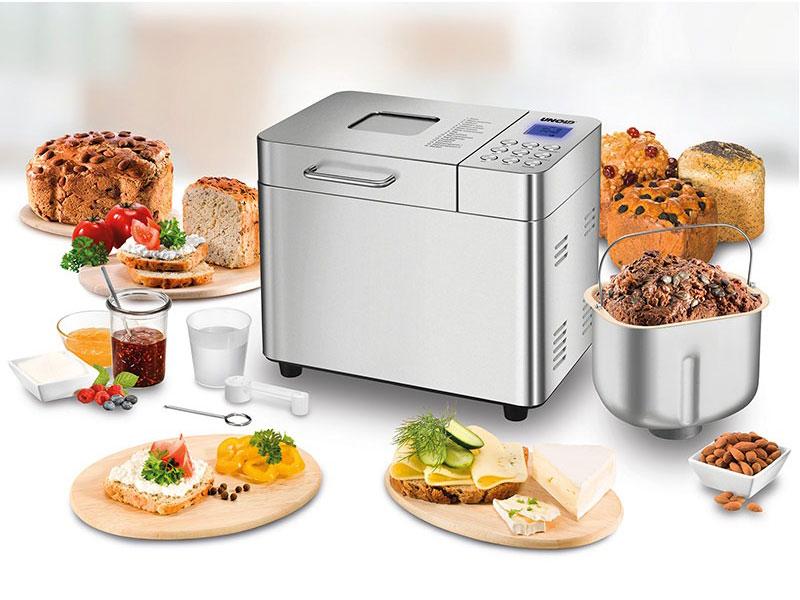 Máy Làm Bánh Mì Unold 68456, Bread Maker 550W, Lcd, Stainless Steel, Hình Ảnh 1