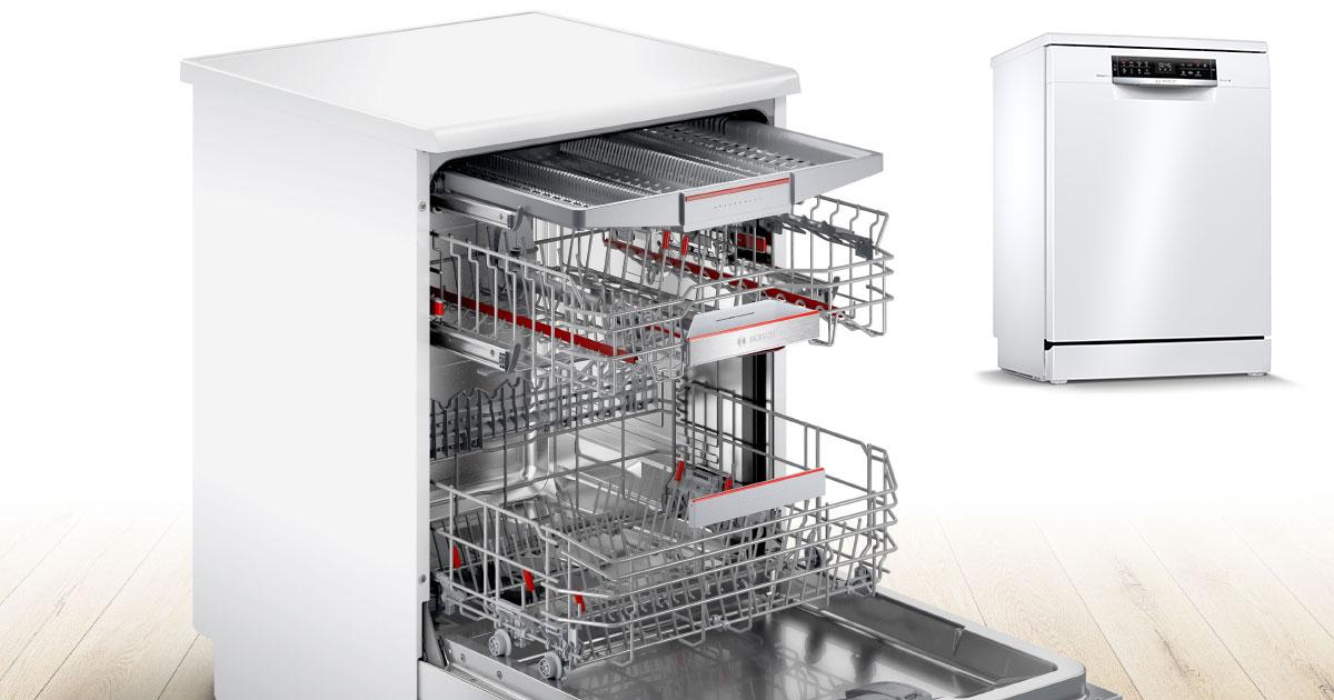 Máy Rửa Chén Bát Bosch Sms6Ecw57E Độc Lập Serie 6, Hình Ảnh 1