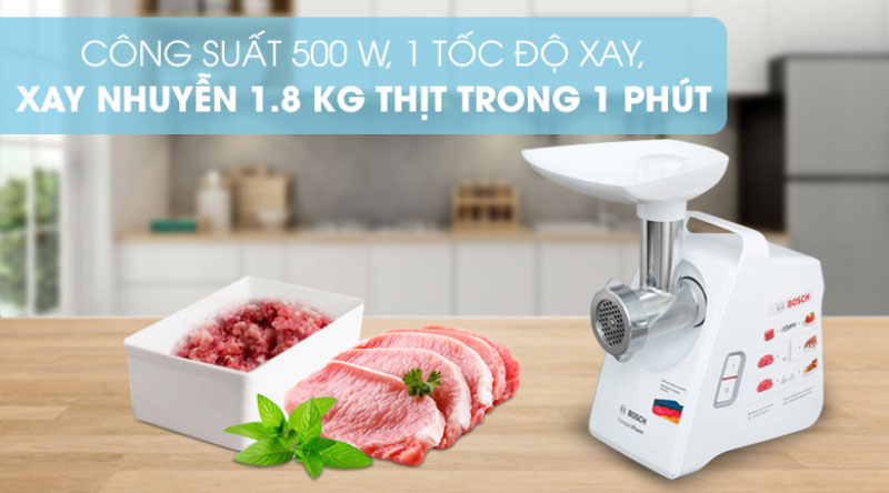 Máy Xay Thịt Đa Năng Bosch Mfw3502W, Hình Ảnh 13