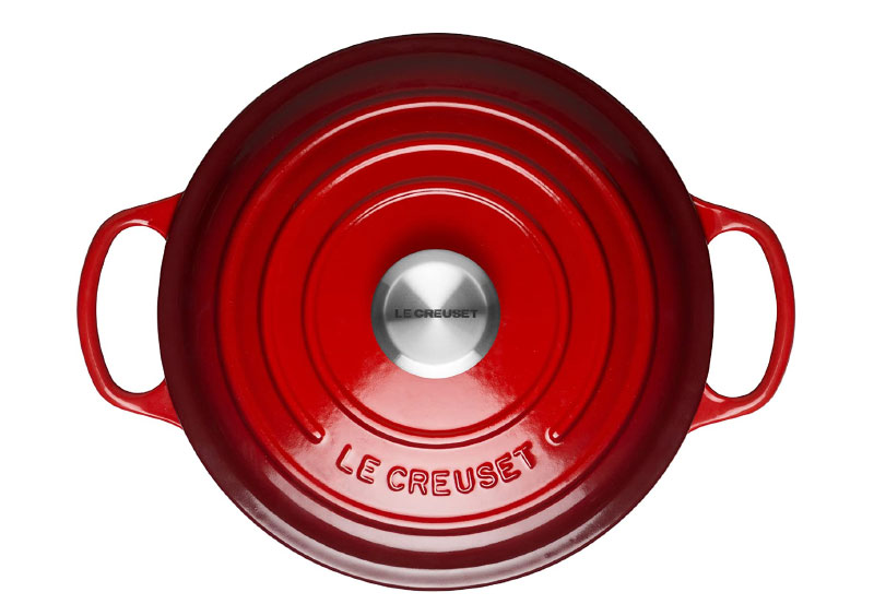 Nồi Gang Le Creuset Brater Rund Evo 26Cm Cerise, Hình Ảnh 4