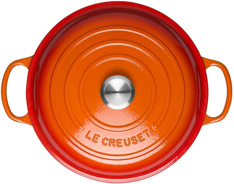 Nồi Gang Nông Le Creuset Gourmet-Profitopf 30Cm Volcanique Flame, Signature Collection, Hình Ảnh 4