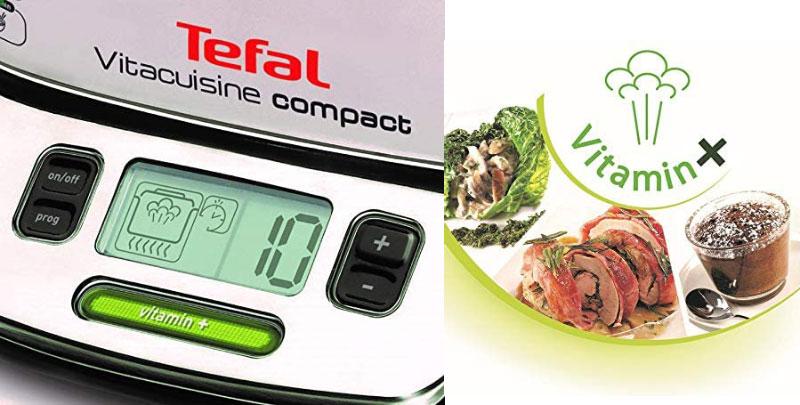 Nồi Hấp Thực Phẩm Tefal Vitacuisine Compact Vs4003, 3 Tầng, Vitamin+, Hình Ảnh 4