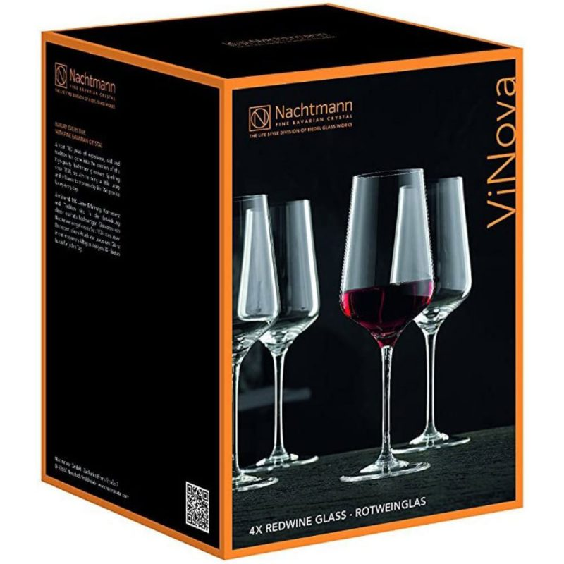 Bộ 4 Ly Rượu Vang Nachtmann 98076 Vinova Red Wine Magnum, Hình Ảnh 4