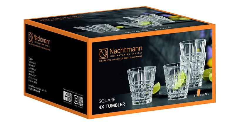 Bộ 4 Cốc Pha Lê Nachtmann 102266 Square Tumbler, Hình Ảnh 4