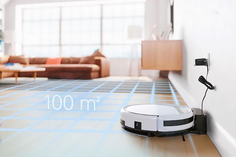Robot Hút Bụi, Lau Nhà Medion Md19510 Được Trang Bị Các Cảm Biến Khác Nhau Đảm Bảo Đường Làm Sạch Tối Ưu, Khoảng Cách Tối Thiểu Đến Tường Khi Làm Sạch.