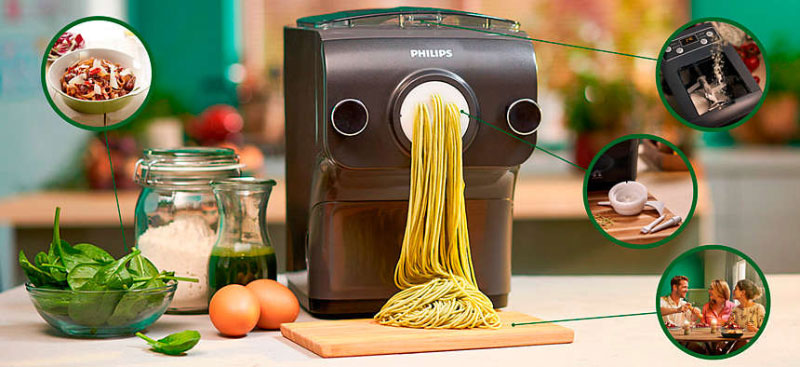 Máy Làm Bún Mì Philips Hr2382/15 Pasta Maker, Hình Ảnh 2